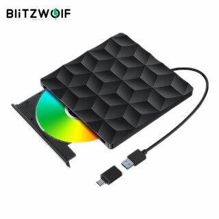 BlitzWolf BW-VD1 Đầu Ghi DVD USB3.0 Type-C, Ổ Đĩa Quang Truyền Nhanh 5Gbps Dành Cho Máy Tính Xách Tay Macbook Máy Tính Để Bàn thumbnail