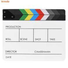 Acrylic Đầy Màu Sắc Đạo Diễn Video Cảnh Clapperboard Clapper Board Cắt Prop