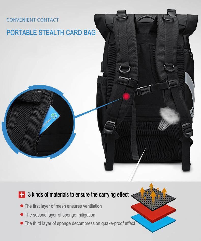 Image 5 for Yiliongdaqi ใหม่ผู้ชายกระเป๋าเป้สะพายหลังมัลติฟังก์ชั่ USB ชาร์จแล็ปท็อปกระเป๋าแฟชั่นกระเป๋านักเรียน