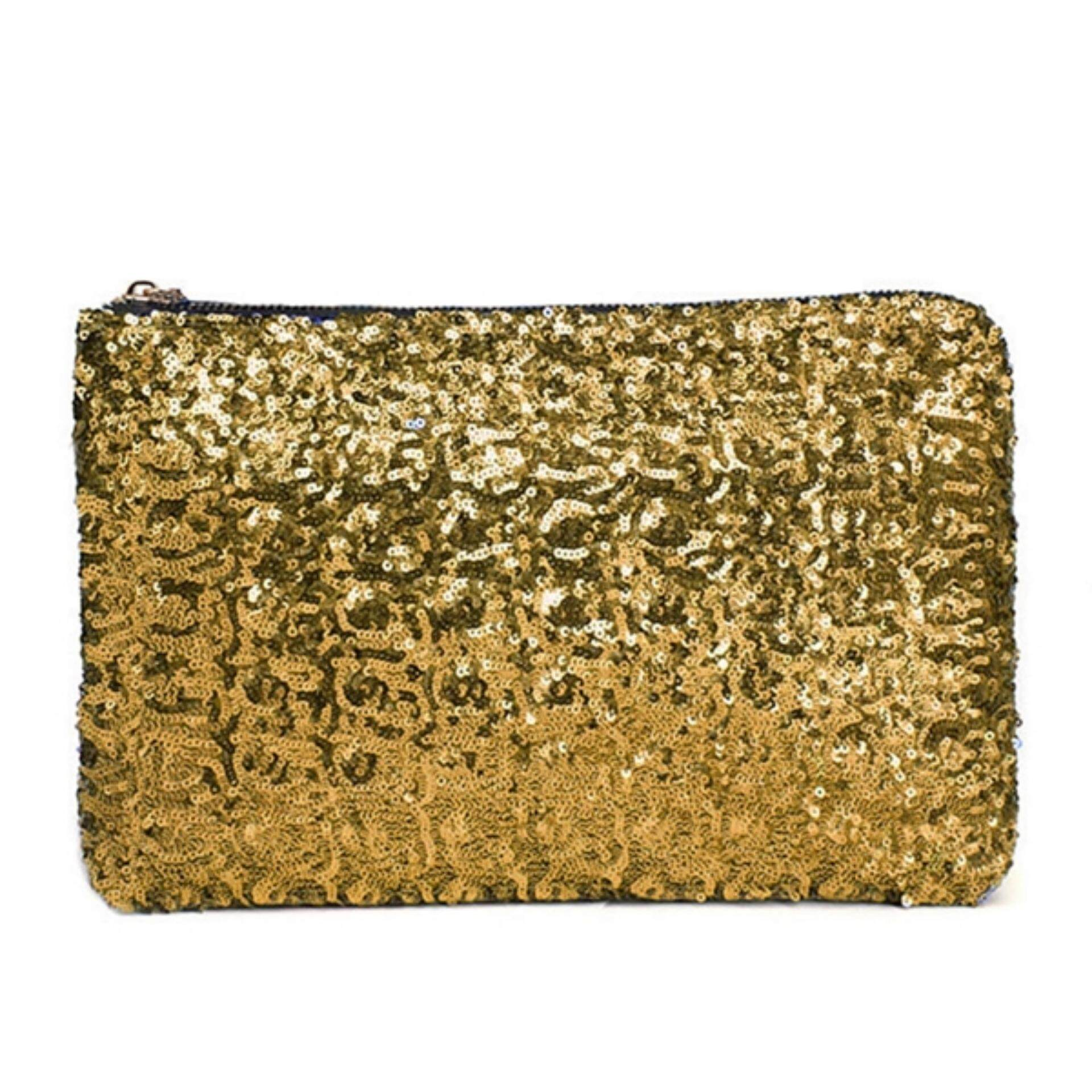 771b1d63e66dc TEEMI Sequins Metallic Glitter Clutch Evening Dinner Purse Women HandBag  Dazzling Sparkling Party Bag - Gold