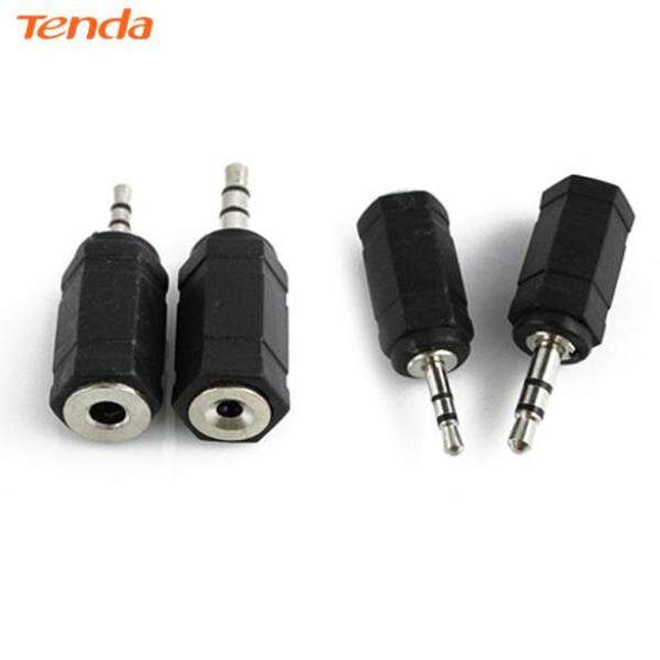 2pcs 2.5mm to 3.5mm Stereo Earphone Audio Adapter Connector for Cable