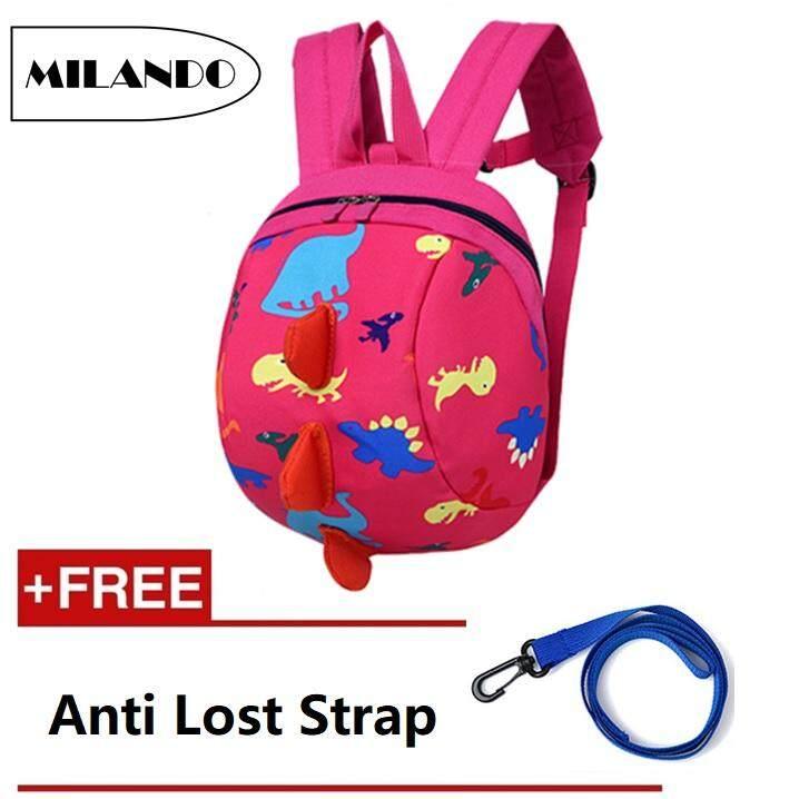 MILANDO Kid Children 3D Dinosaur Children School Bag Anti Lost Backpack Bag  Beg Sekolah Bags (Type 2)