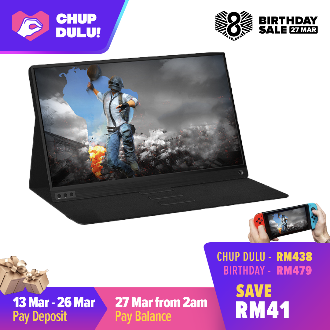 [CHUP DULU] Wistino thin portable lcd hd monitor 15.6 usb type c hdmi for laptop,phone,xbox,switch and ps4 portable lcd gaming monitor Malaysia