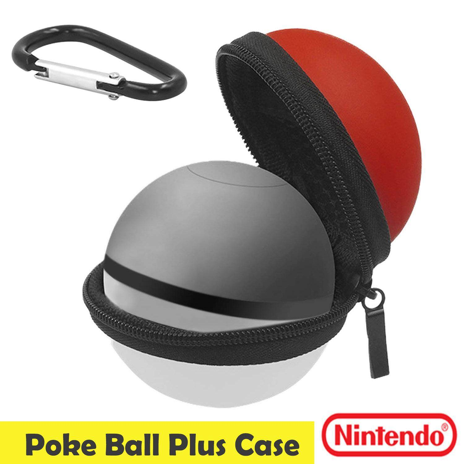 Travel Portable Hard EVA Carry Case Protective Box with Carabiner Compatible with Nintendo Switch Poke Ball Plus Controller