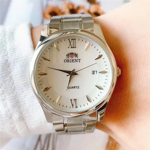 ORIENT mens watch quartz watch stainless steel strap fashion 30M waterproof business wristwatches Malaysia