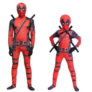 Trang Phục Lycra Deadpool Bộ Đồ Siêu Anh Hùng Hóa Trang Trẻ Em Và Người Lớn, Đạo Cụ Tiệc Halloween thumbnail