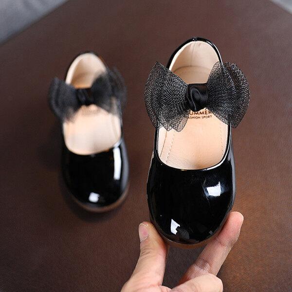 Giá bán Giày Bệt Da Thắt Nơ Bướm Công Chúa Mềm Mại Cho Trẻ Mới Biết Đi Trẻ Em Bé Gái