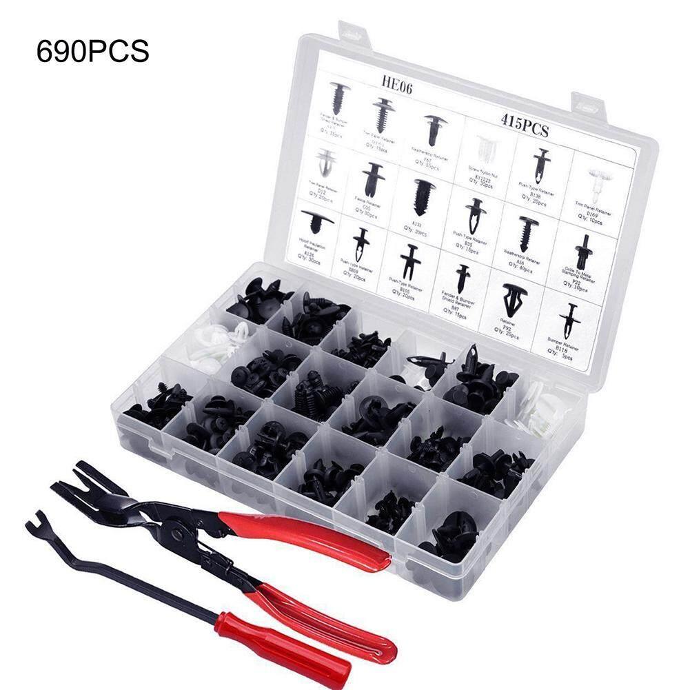 350 Pcs Universal Mixed Size Autos Push Pin Rivet Fastener Moulding Clips+Pliers