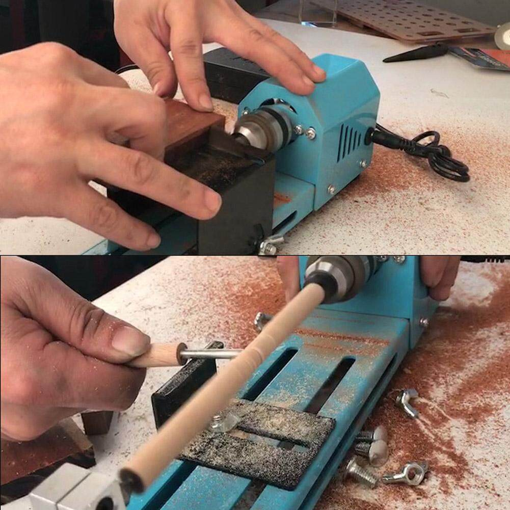 Miniature Electric Punching Grinding Machine Diy Wood Lathe Machine Cn Plug 220v By Lfinger.