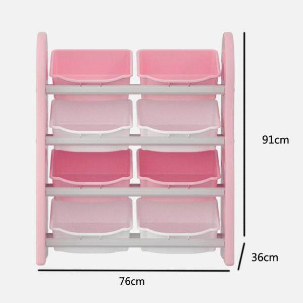 RuYiYu - 76X36X91cm, Book Racks Bookshelf Childrens Toys Mini Multi-Function Plastic Box, Kids Toy Organizer and Storage Bins, 8-Bins in Fun Colors, Toy Storage Rack