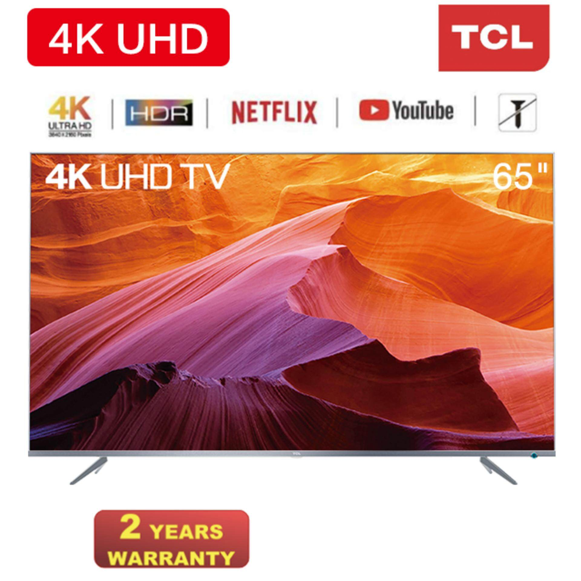 TCL 65 Inch 4K UHD Smart LED TV 65P6US - HDR / Dolby Audio / Netflix /  Youtube / APP Store / HDMI / USB / WiFi