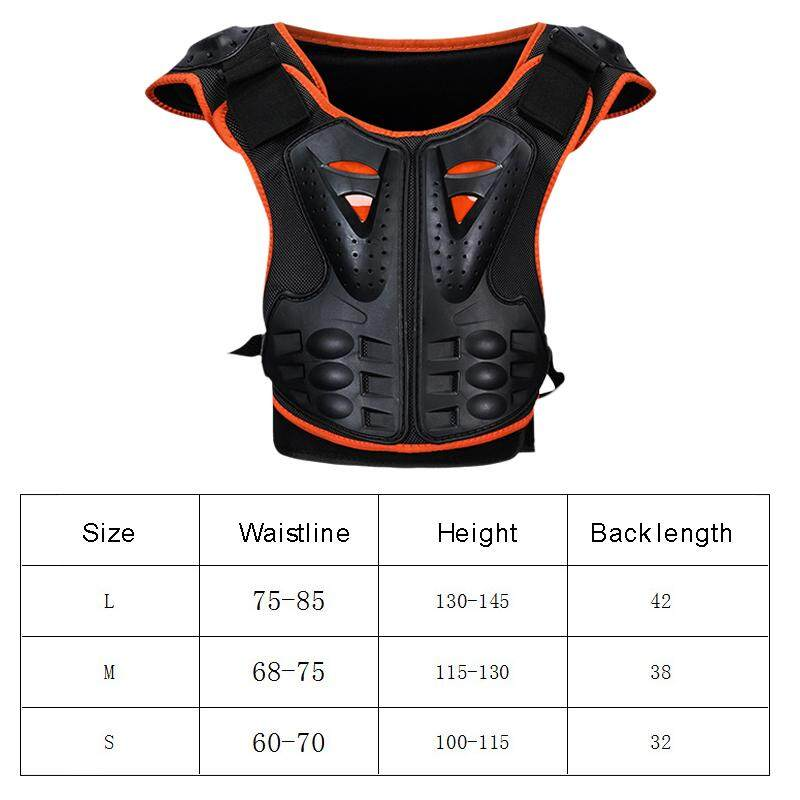 huyia Kid's Motorcycle Body Armor Vest Jacket Spine Chest Protection Riding Gear Guard