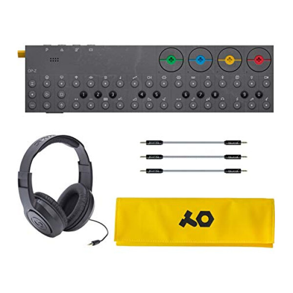Teenage Engineering OP-Z Wireless Bluetooth Synthesizer for iOS, Mac, Android Bundle with PVC Roll Up Bag (Yellow), Samson SR350 Over Ear Stereo Headphones, and Blucoil 3-Pack of 7 Audio Aux Cables Malaysia