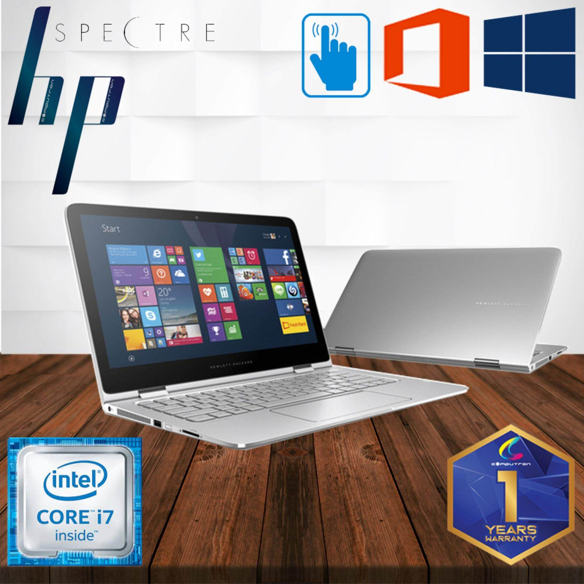 HP SPECTRE X360 WQHD 2K DISPLAY TOUCHSCREEN CONVERTIBLE ULTRABOOK [CORE I7 VPRO/ 8GB DDR3 RAM/ 256GB SSD/ WINDOW 10 PRO/ 1 YEAR WARRANTY] LAPTOP 2-IN-1 Malaysia