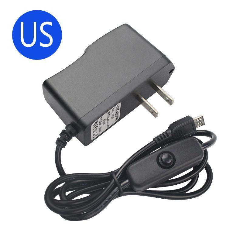 Micro USB AC Adapter Wall Power Supply Black Charger For Raspberry Pi 3B  Plus
