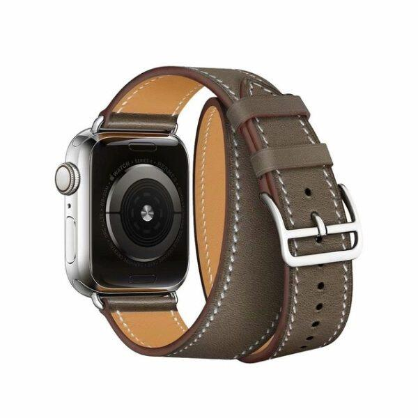 Double Tour Extra Long Leather loop Strap for iwatch for Apple Watch band 38mm 42mm 40mm 44mm Series 4 2 3 1 belt series 5 6 se Malaysia