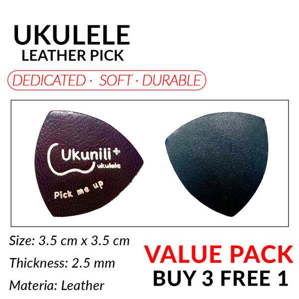 Ukunili Ukulele Leather Pick Soft Genuine Leather Malaysia