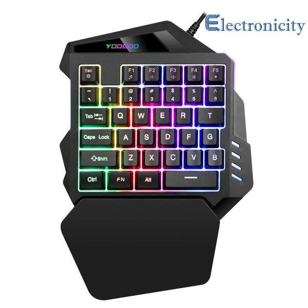 G94 One Handed Gaming Keyboard Single Handed Mini Membrane Keyboard for PC Gamer Computer Accessory Singapore