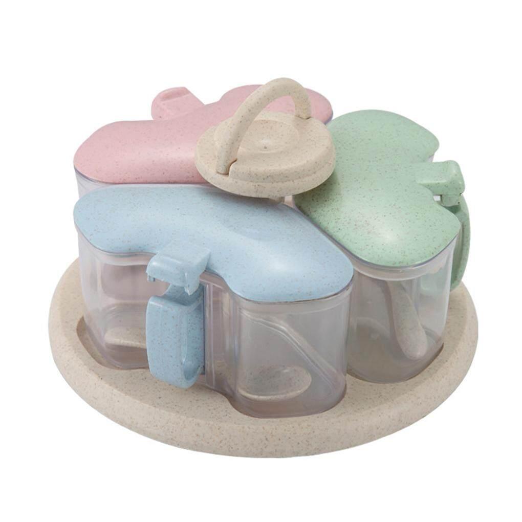 Wadah Penyimpanan Dapur Wadah Bumbu Kombinasi Toples Rempah Plastik Sendok Memasak Alat Botol Bumbu