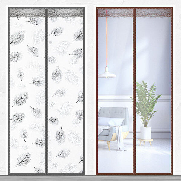Air Conditioner Room Kitchen Magnetic Screen Door Magnetic Thermal Insulated Mesh Screen Door Curtain New