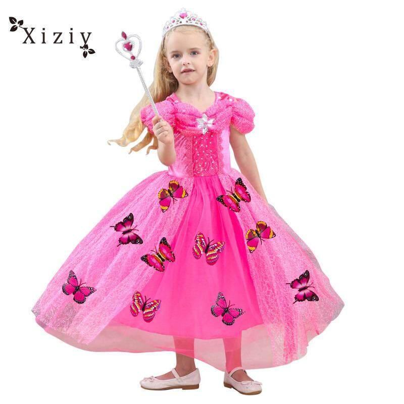 779cf9213e739 Xiziy Baby Girls Princess Dress Kids Tutu Skirt Festival Costume Dress  Birthday Party Wear