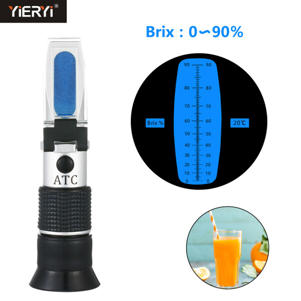 yieryi Refractometer 0 ~ 90% Brix Honey Sugar/Syrup concentration Content Specific Measurement Tool