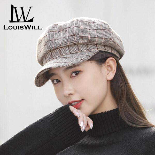 LouisWill Women Hats Berets Caps Fashion Plaid Hats Flat Caps Octagonal Caps British Style Outdoor Sunscreen Cap Berets Cap Golf Flat Cap Casual Hat Hip Hop Berets for Women