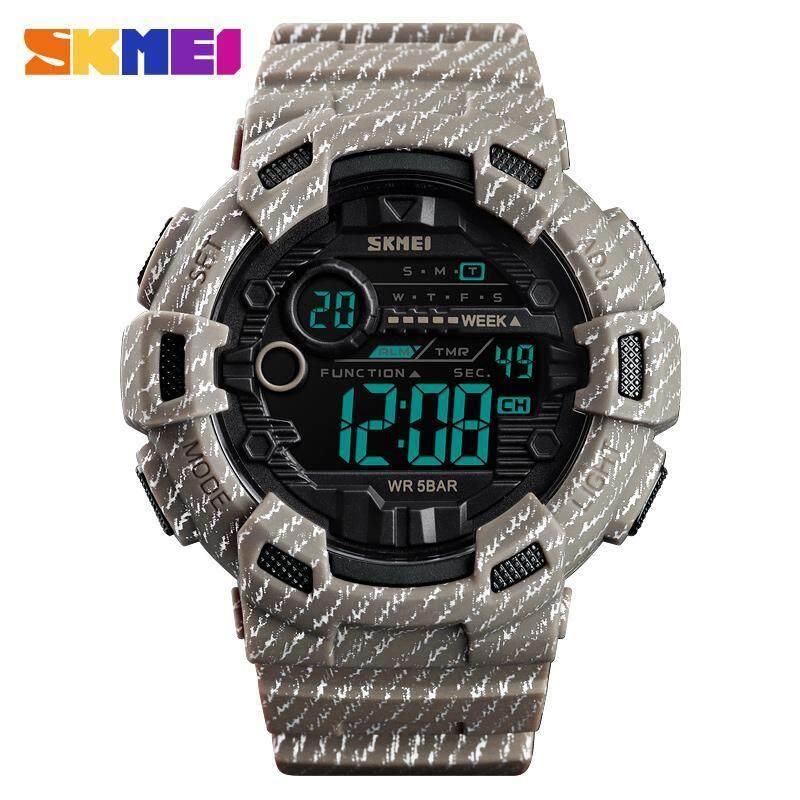 New SKMEI 1472 Men Sport Digital Watch Casual Military Waterproof Countdown Alarm Multifunction Fashion Digital Male Clock Malaysia