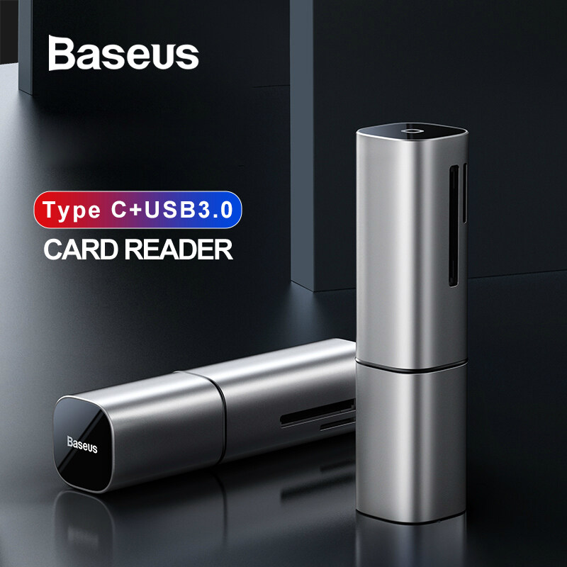 Baseus 2 In 1 Card Reader Usb 3.0 Type C To Sd Micro Sd Tf Adapter For Pc Laptop Otg Cardreader Smart Memory Microsd Card Reader.