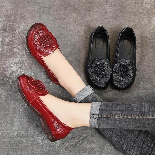 Giày bệt da thật chất lượng cao cho nữ Giày lười đế mềm thường ngày cho Nữ giá rẻ