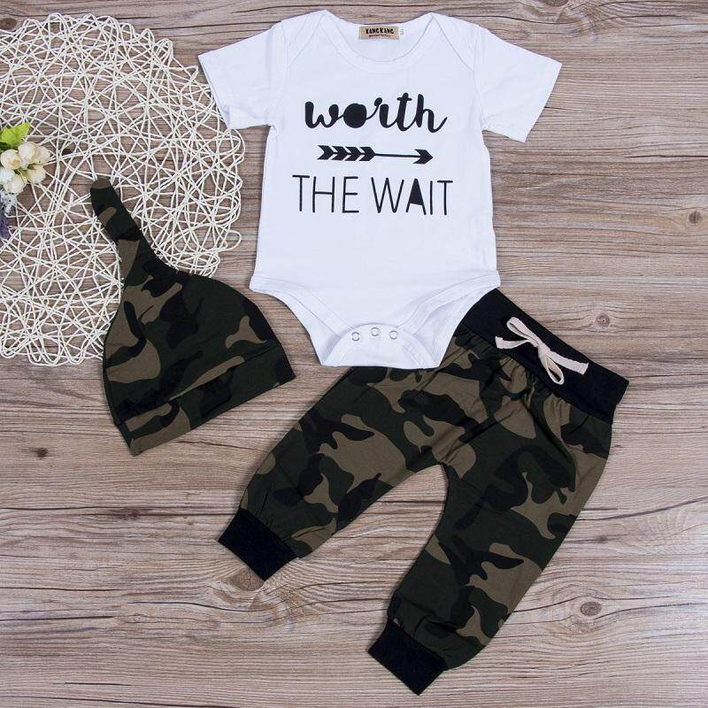 d9956eb2 Newborn Kids Baby Boys Girls Cute Tops Romper +Long Pants Outfits Cotton  Clothes