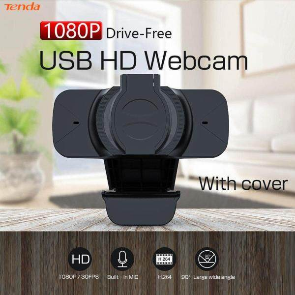 FHD 1080P Webcam with Privacy Cover Built-in Microphone USB Driver Free