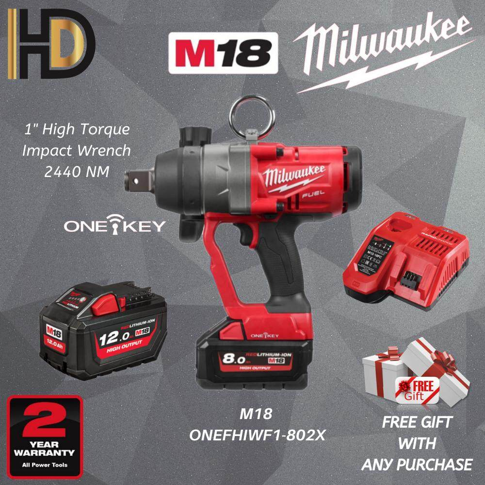 Milwaukee M18 ONEFHIWF1-802X 1  HIGH TORQUE IMPACT WRENCH 2440 NM