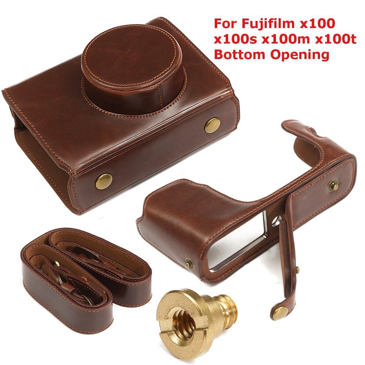 Giá Bao Da Túi Đựng Cover Dành Cho Máy Ảnh Fujifilm X100 X100S X100m X100T Đáy Mở