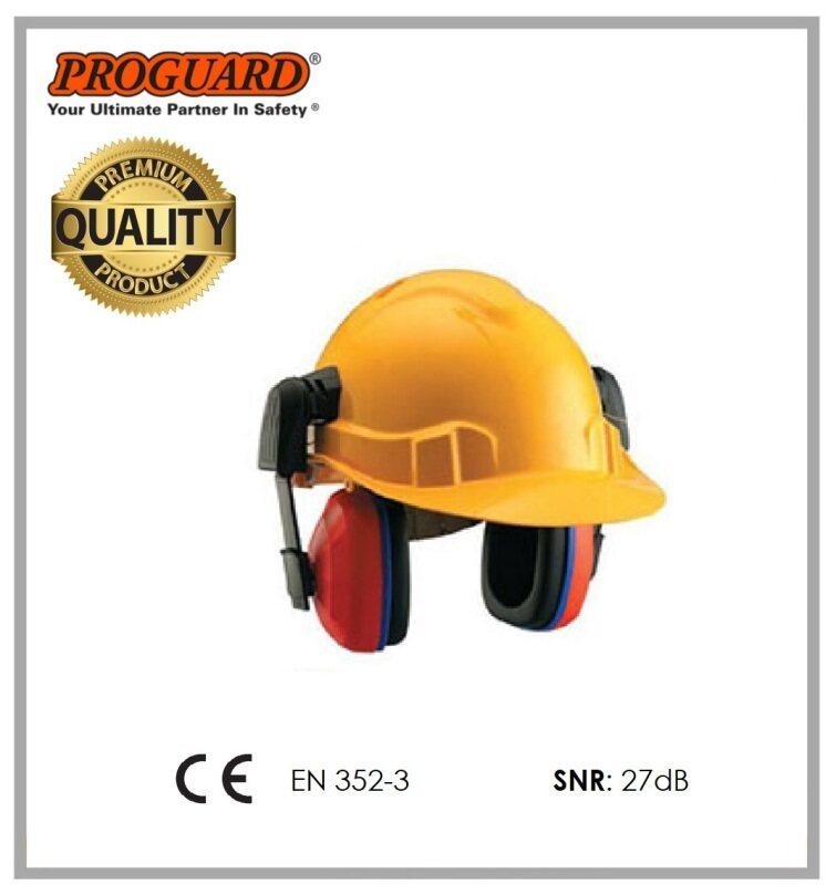 PROGUARD 27db Lightweight Helmet Slotted Earmuff ( w/o Helmet )