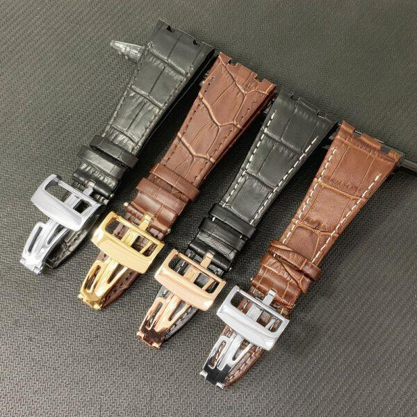 26mm For Audemars 100% Handmade Genuine Leather Handmade Watch Band Strap For AP For Piguet +Tools Malaysia