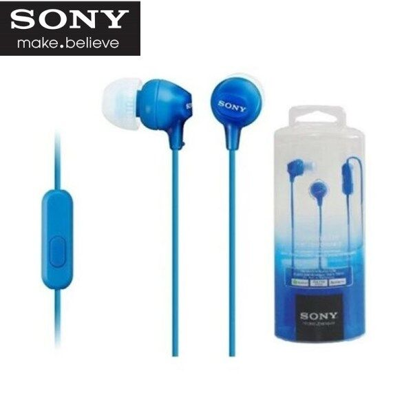 Original Sony MDR-EX15AP Headphone 3.5mm Jack Wired Earphones Gaming Earbud Handsfree Headset Headphone with Mic For iOS Android iPhone Huawei Samsung Xiaomi OPPO Vivo Singapore