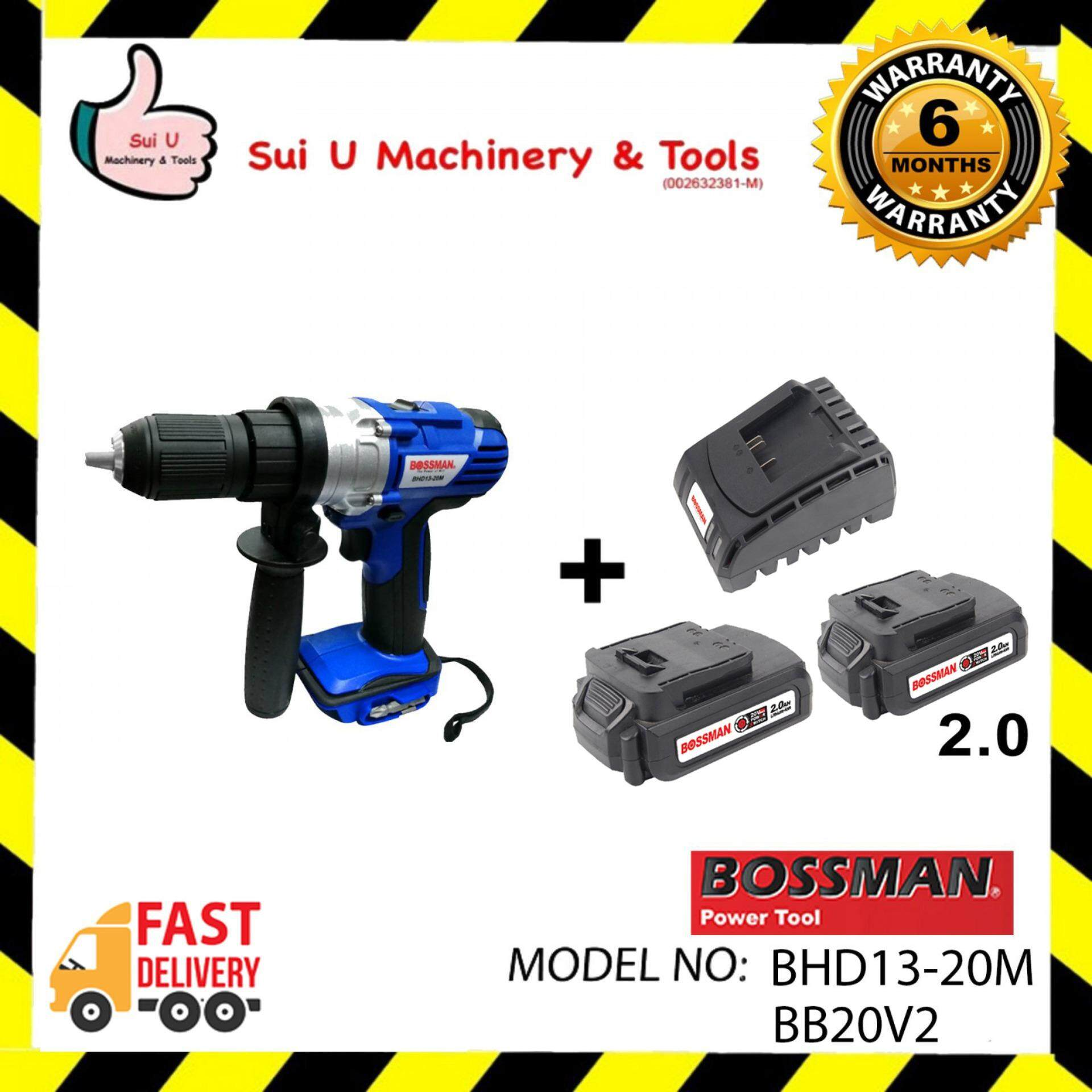 Bossman BHD13-20M 20V Cordless Hammer + 2pc Battery 2.0