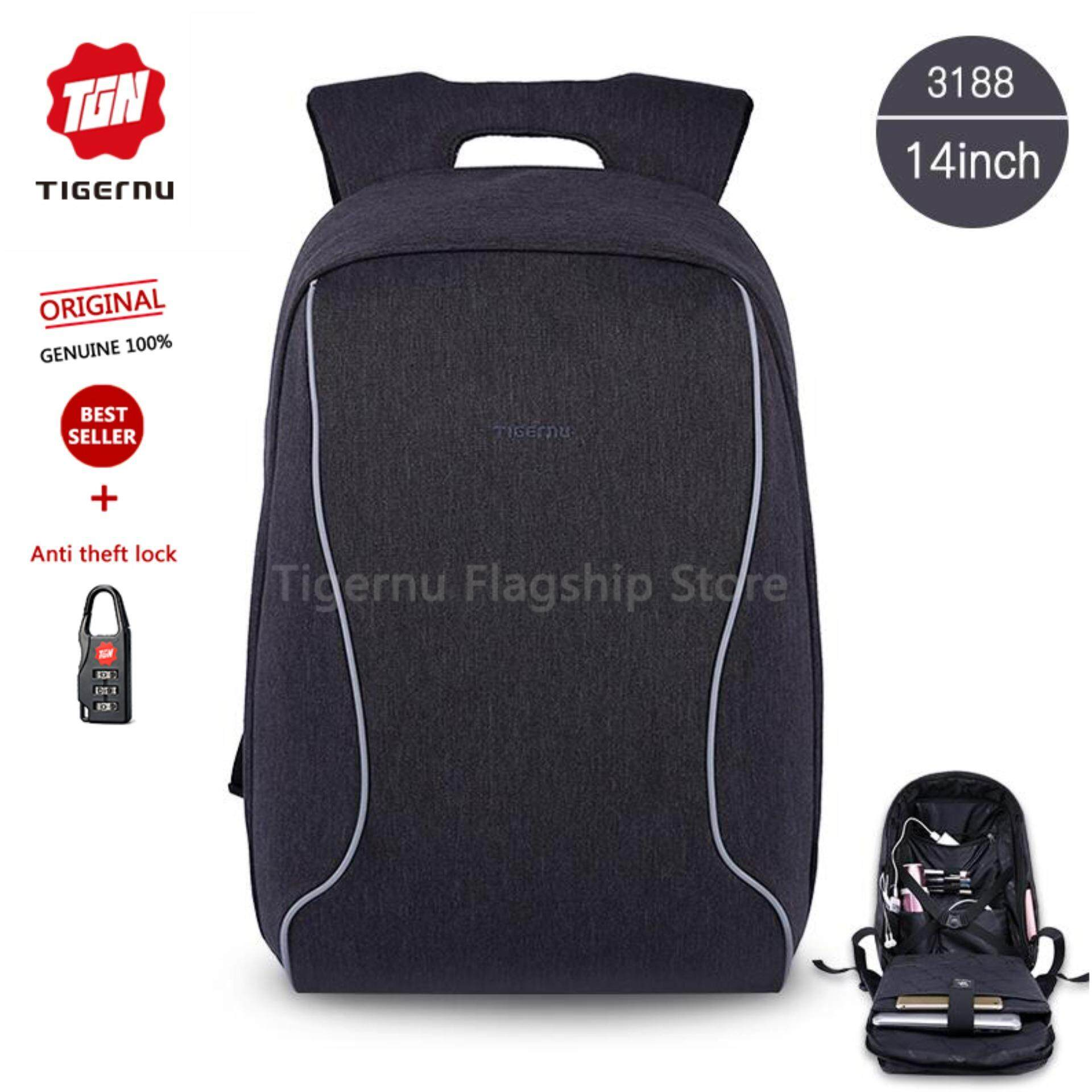 f01ee4f85d4 Tigernu Brand 14 Inch Laptop Bags Fashion Anti-Theft Men  s Business  Backpack T