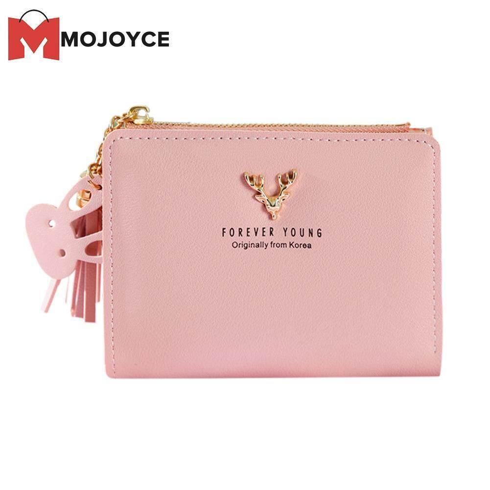 30890a39f6d8 MOJOYCE Cute Animal Deer Girls Bifold Short Wallet Soft PU Leather Clutch  Women Casual Zipper Coin Purse Card Holder