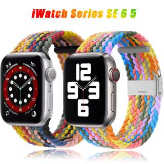 Dây Đeo Vải Nylon Bện Đơn Có Thể Điều Chỉnh Mới Cho Apple Watch Band Vòng Tay Co Giãn 44Mm 40Mm 38Mm 42Mm, Dành Cho Apple Watch Series 6 SE 5 4 3 2 1 Dây Đeo Đồng Hồ Thông Minh T500 thumbnail