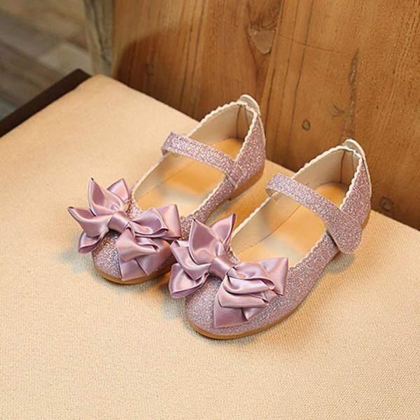 Giá bán Trẻ Em Cô Gái Thời Trang Công Chúa Bow Dance Nubuck Leather Giày Đơn