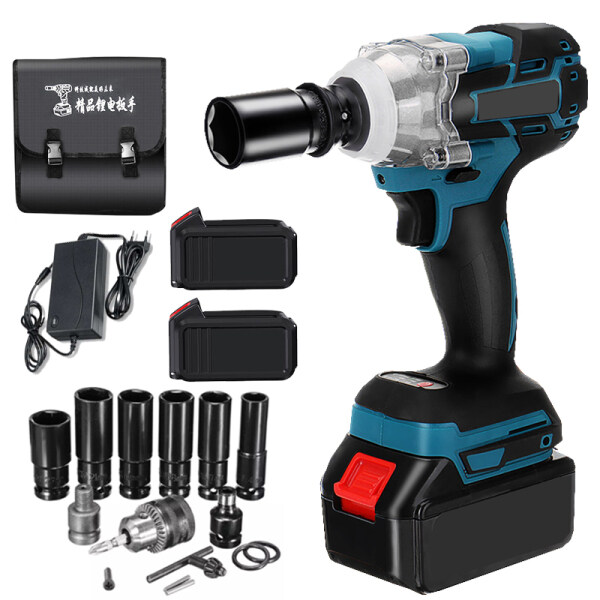 1/2 780Nm Electric Brushless Cordless Impact Wrench Driver Complete Accessories with Lithium-Ion Battery and Charger