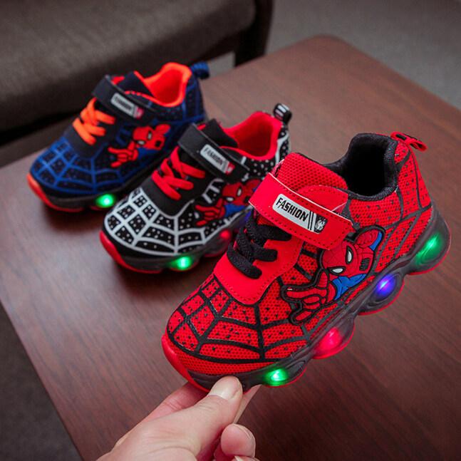 Giày Em Bé Yiwa Thời Trang Bé Gái Bé Trai Giày Thể Thao Đơn Giản Với Đèn LED Dạ Quang giá rẻ