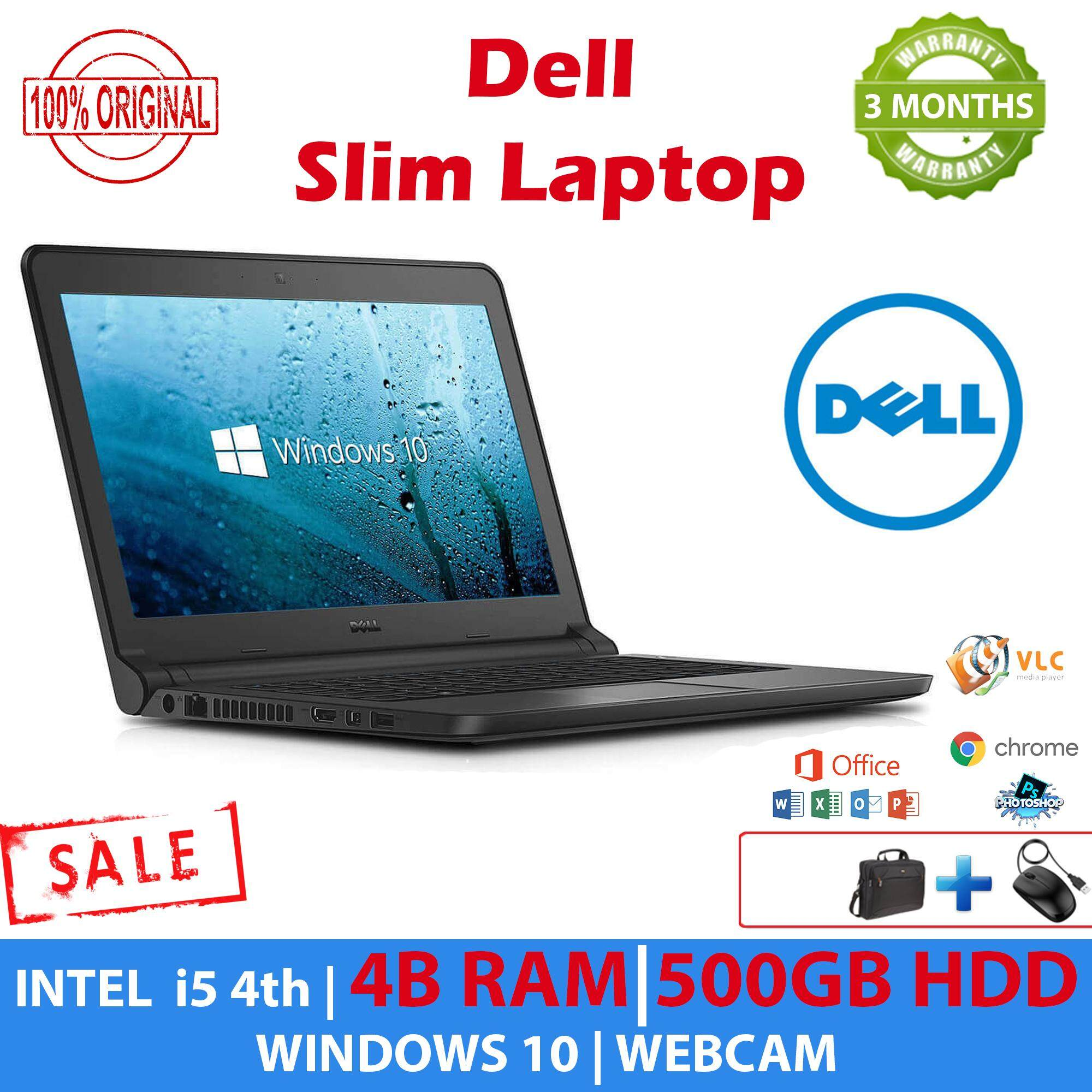 Dell Slim Laptop - Latitude 3340 - i5 4th Gen - 4GB RAM - 500GB HDD - WebCam - WiFi - 3 Months Warranty - 100% Original Malaysia