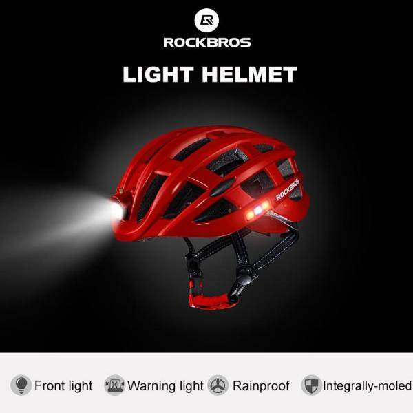 Mua Mũ Bảo Hiểm ROCKBROS Chạy Xe Ban Đêm Mũ Bảo Hiểm Xe Đạp Nhẹ MTB Có Đèn Sạc USB Kích Thước 57-62CM