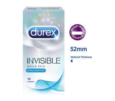 DUREX INVISIBLE EXTRA THIN EXTRA SENSITIVE X 1 UNIT ( 10 PIECES )