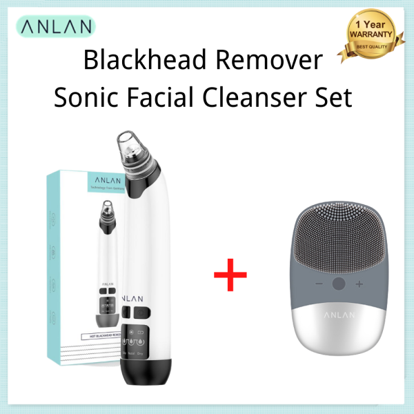 Buy ANLAN Sonic Facial Washing Brush Face Cleanser & Hot Compress Blackhead Remover Singapore