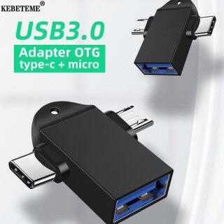 Đầu Chuyển Đổi USB 3.0 OTG 2 Trong 1 KEBETEME Bộ Chuyển Đổi Đồng Bộ Dữ Liệu Cáp Micro USB Type C Cho Huawei Cho MacBook Cho Samsung thumbnail