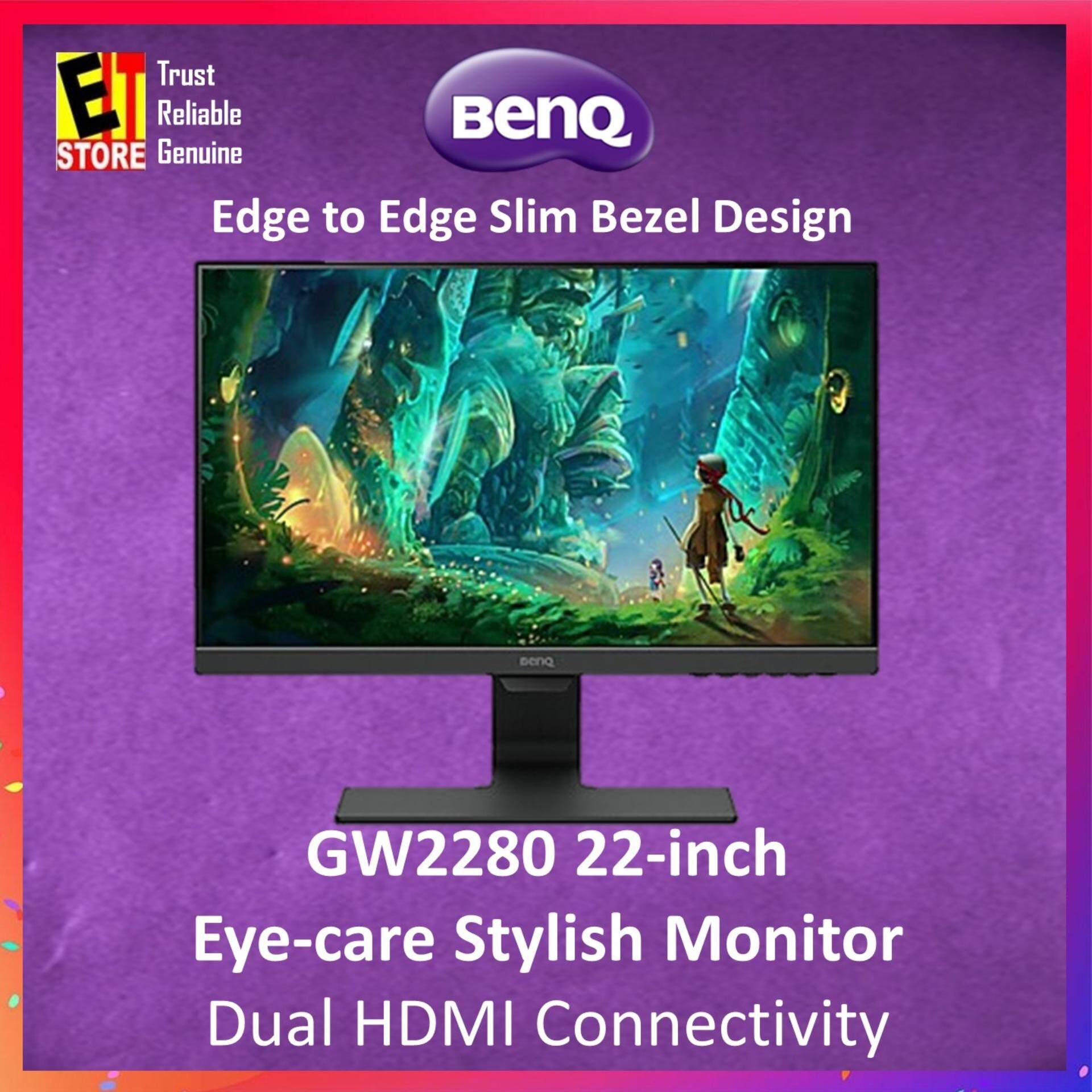 Benq Gw2280 22 Monitor (d-Sub/hdmix2/wall Mount) C/w Hdmi Cable By Eit Store.